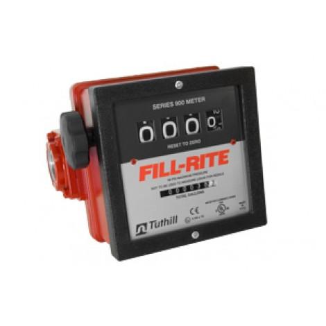 "Fill-Rite 1"" 4 Wheel Mechanical Meter 901C"