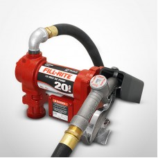 Fill-Rite 12V DC H-Flow Pump with Manual Nozzle 20GPM