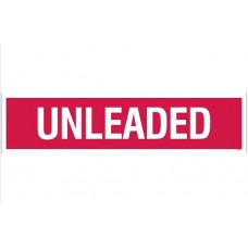 """Unleaded"" Decal - Red - 3''x12''"