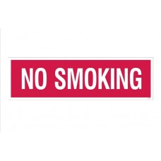 """No Smoking"" Decal - 4''x14''"