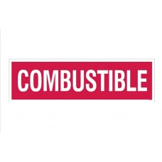 """Combustible"" Decal 4''x14''"