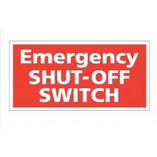 """""""Emergency Shutoff"""" Decal"""