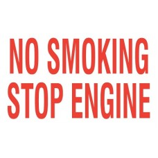 """No Smoking - Stop Engine"" Decal 10''x6''"