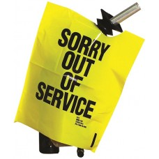 """Out of Service"" Yellow Bags - Box of 12"