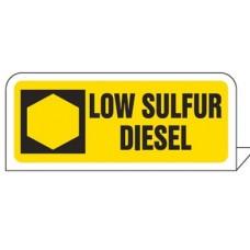 """""""Low Sulphur Diesel"""" Pipe Tag"""